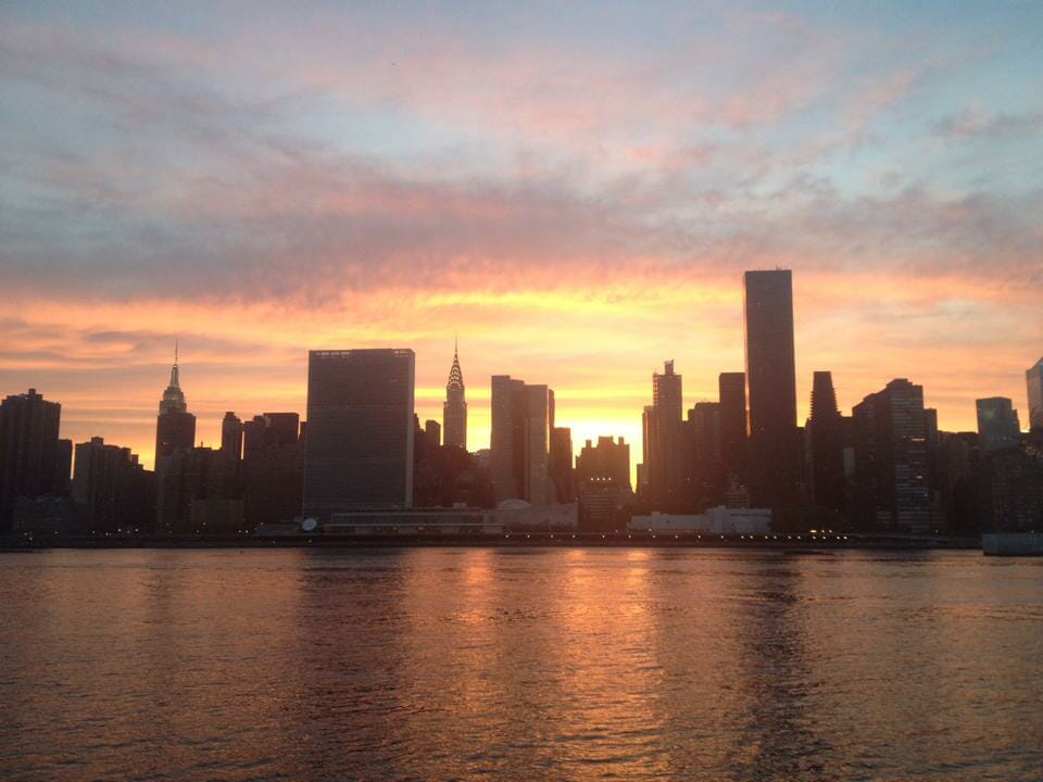 Sunset at Gantry Plaza State Park, LIC.