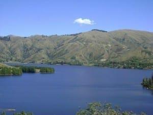Stunning landscape on Isla del Sol, Lake Titicaca.