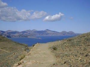 Hike path, Isla del Sol, Lake Titicaca.