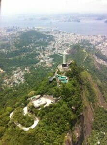 Aerial view of Christ the Redeemer, Rio.