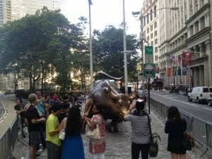 Charging Bull, downtown.