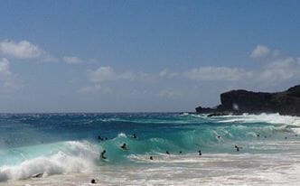 Sandy Beach, a surf paradise.