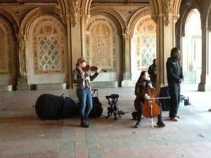 Musica gratis en el Central Park.