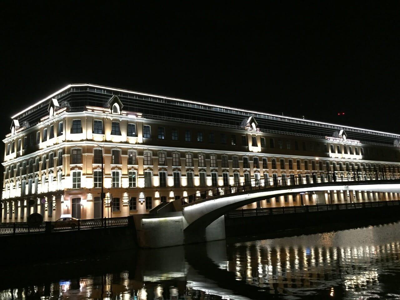 Moscú es bonita también por la noche.