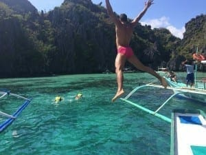 Sooo happy !! Small Lagoon, El Nido: one of the most beautiful places in the world