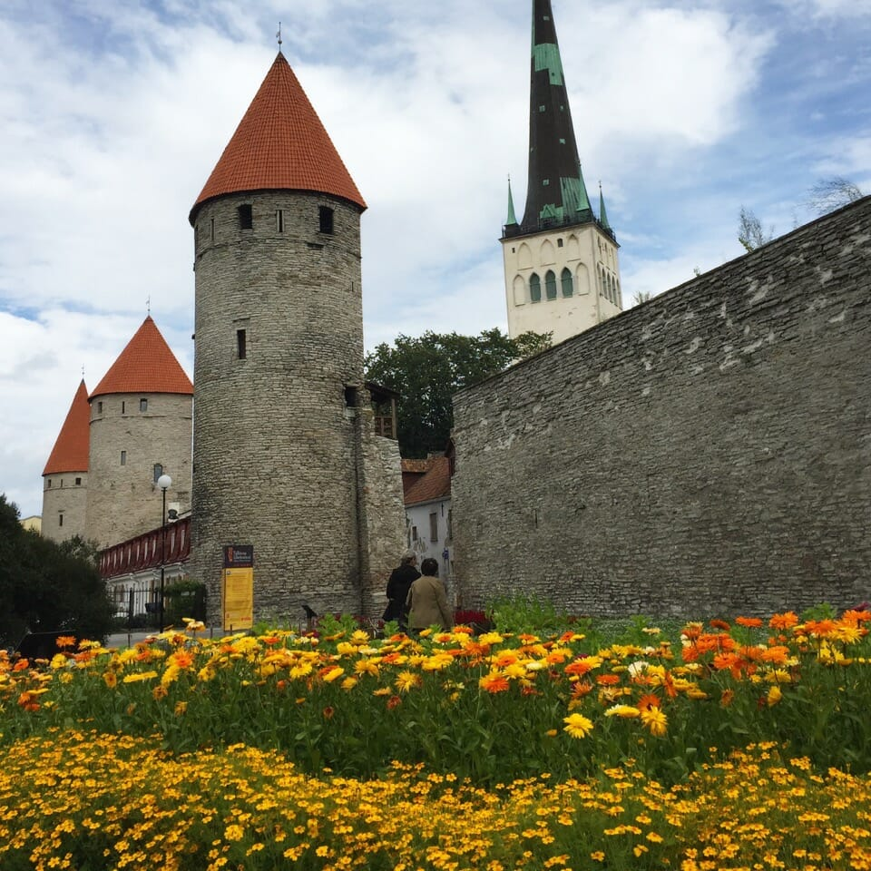 City walls in old town, Tallinn