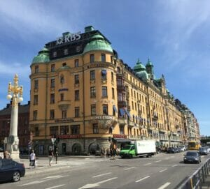 Bonita arquitetura em Estocolmo, Suécia.