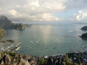 Bacuit Bay from Taraw Cliff