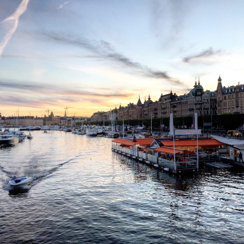 Entardecer en Estocolmo.