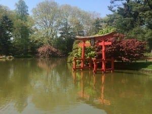 Jardim Japonês no Jardim Botânico do Brooklyn, NYC