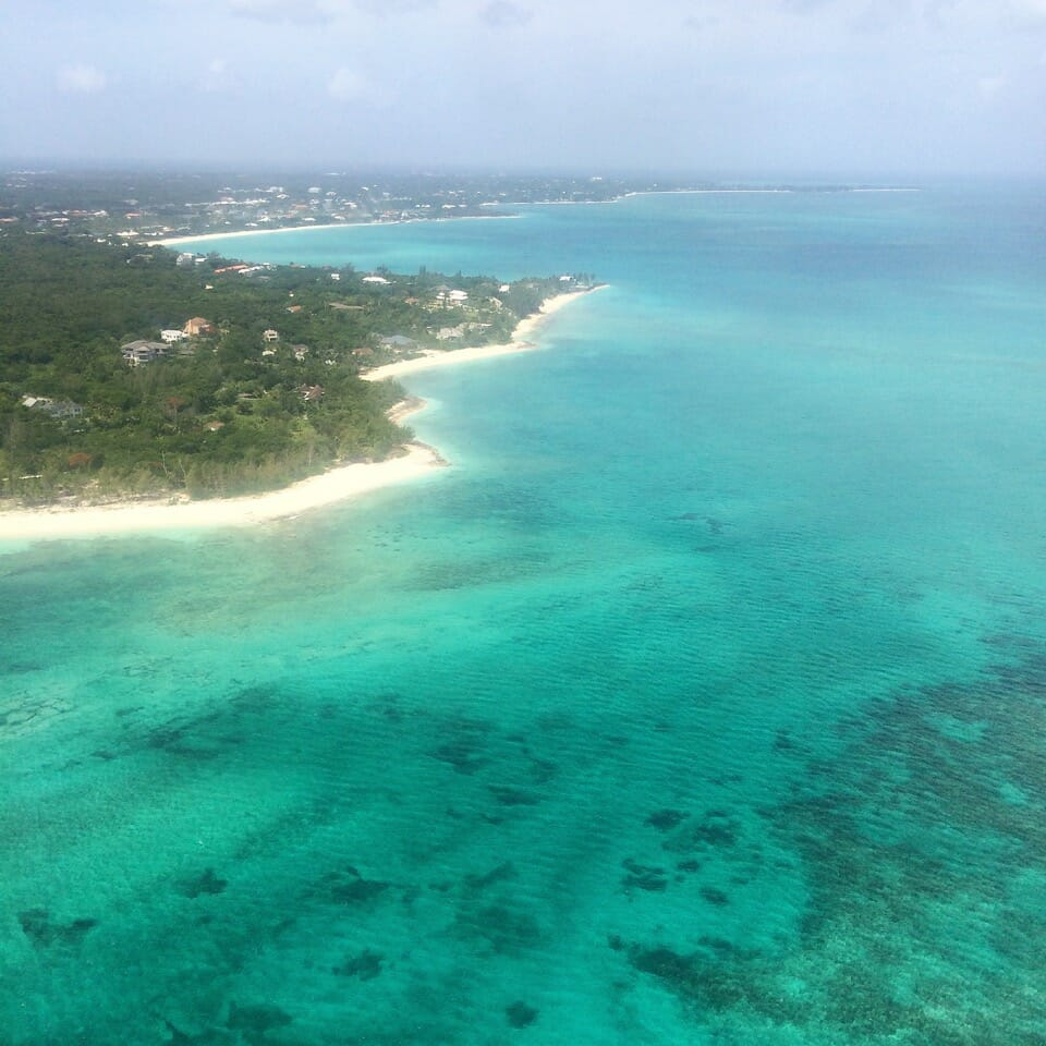View of Nassau from the airplane.