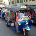 Tuk Tuk, the most popular mode of transportation in Thailand