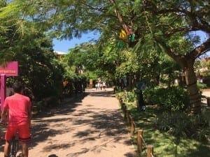 Calle principal de Praia do Forte, Bahia.