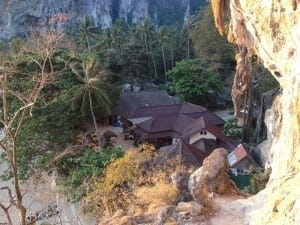 View point in Railay Beach West.