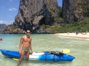 Kaiaking in Railay Beach.