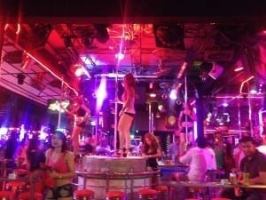 Crazy nightlife in Patong beach, Phuket Thailand.