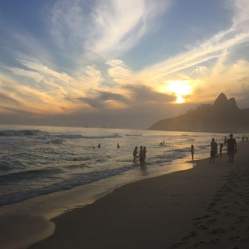 Entardecer em Ipanema, Rio.