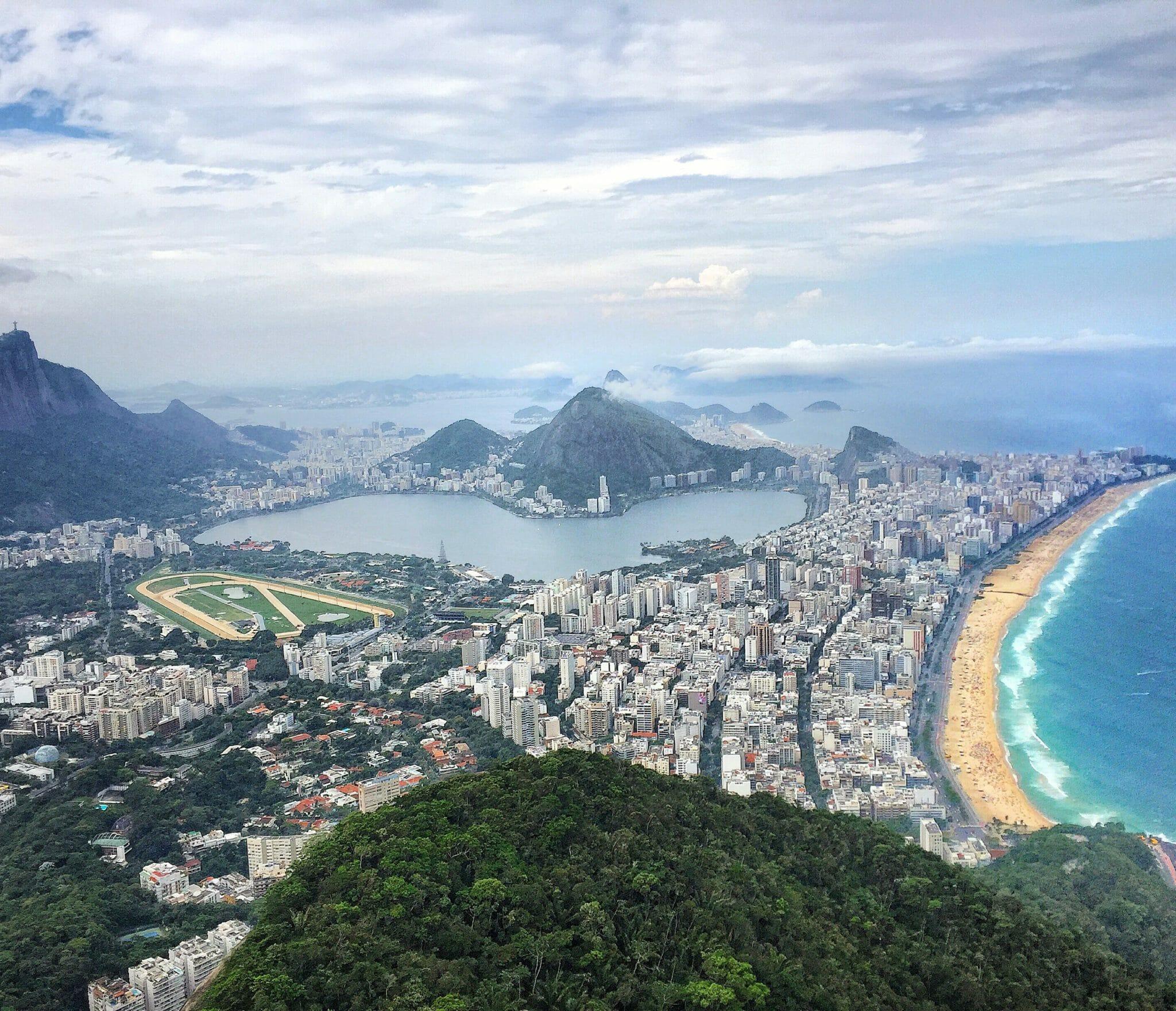 Vista do Morro Dois Irmãos, Rio.