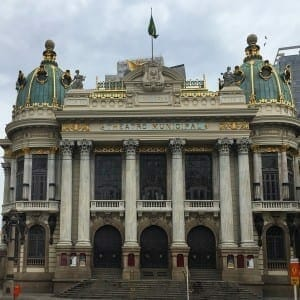 O famoso Teatro Municipal do Rio.
