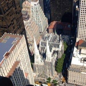 Catedral de São Patrício vista do Top of the Rock, NYC.