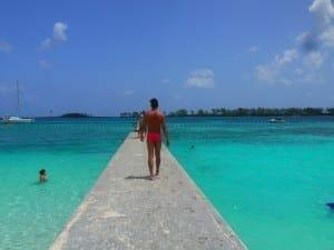 Agua perfecta en Junkanoo Beach.