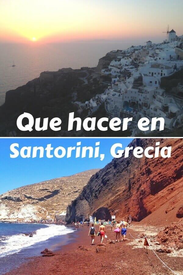 Que hacer en Santorini, Grecia