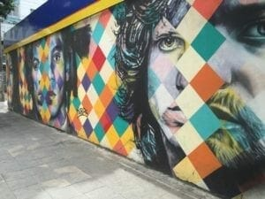 graffiti murals in Sao Paulo