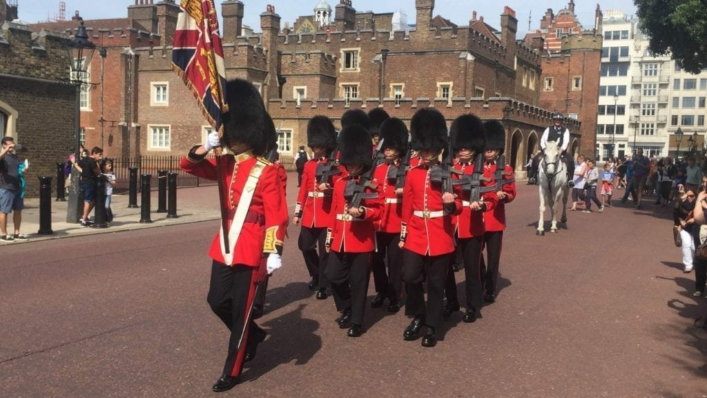 Watching the guard is one of the top things to do in London