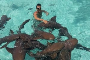 Swimming with sharks in the Bahamas 7continents1passport