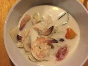 Coconut milk soup at Nee Papaya Restaurant