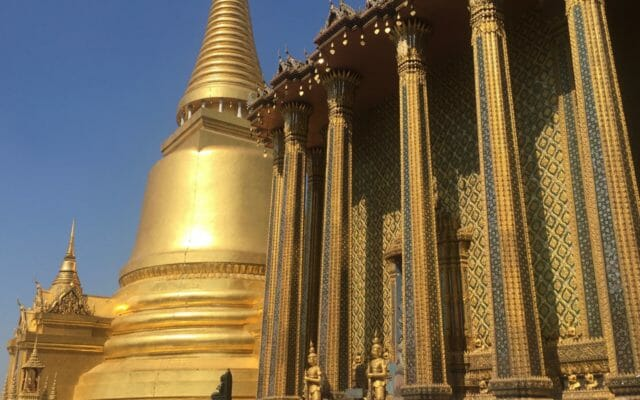 The magnificent elevated platform of the Grand Palace