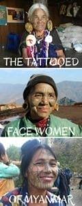 The extraordinary tattooed face women. Mindat, Chi State, Myanmar.