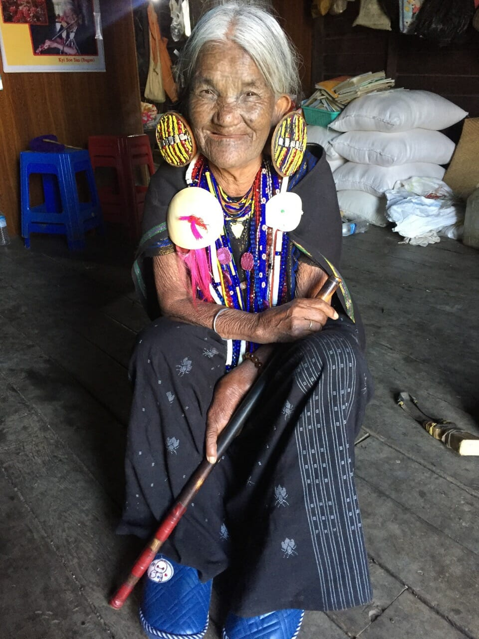 Yaw Shen, de la tribu Kaang, me dijo que desde niña tenía ganas de tener su proprio tatuaje.