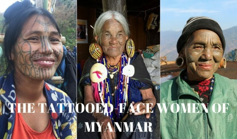 The extraordinary tattooed face women of Myanmar