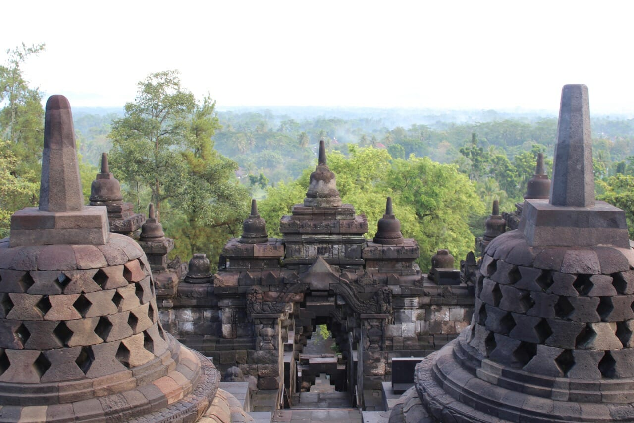 Borobudur is located on an area with dense vegatation