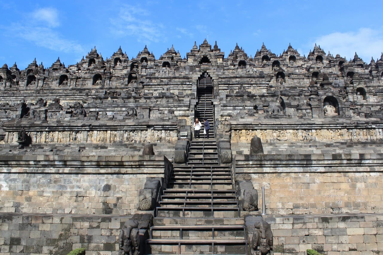 Borobudur's entrance and platforms