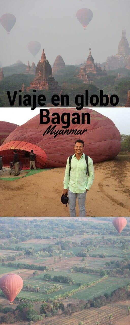 Viaje en globo en Bagan, Myanmar.