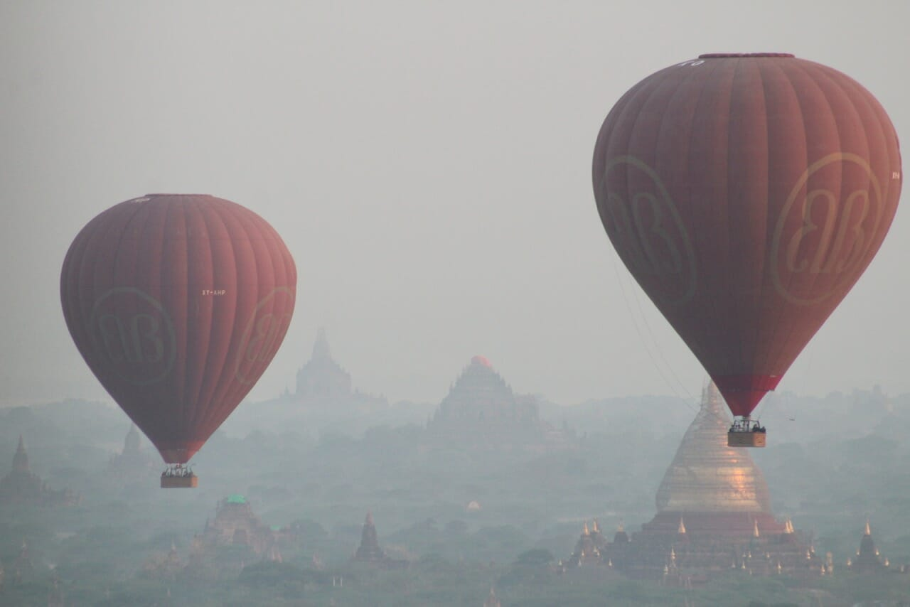 hot air balloon in Bagan Myanmar Travel costs