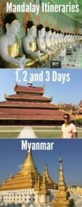 What to do in Mandalay? Here are my suggest itineraries for 1, 2 and 3 days in Mandalay, Myanmar.