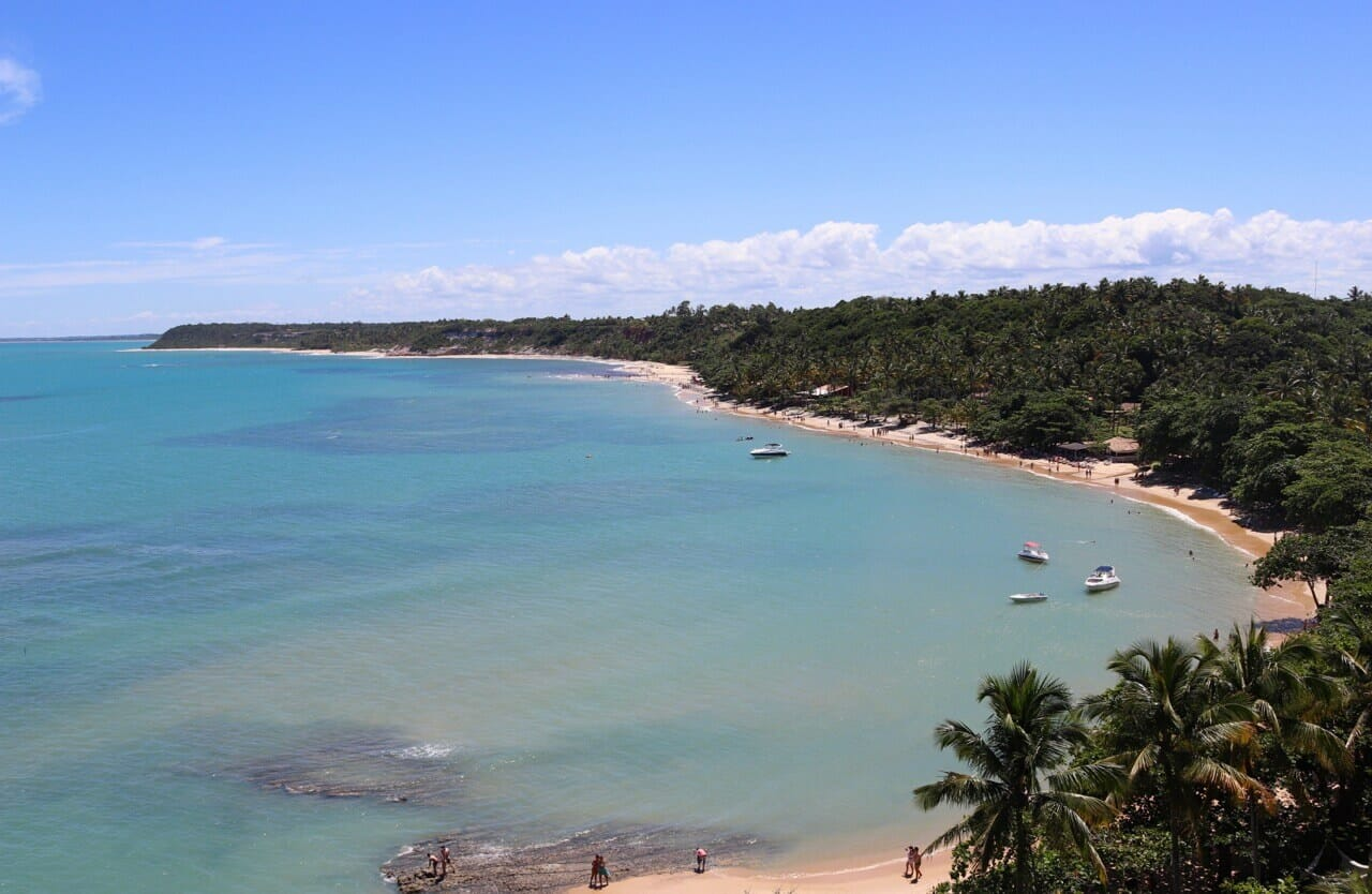 Beaches in Bahia Praia do Espelho, Porto Seguro, Bahia South Coast, Brazil