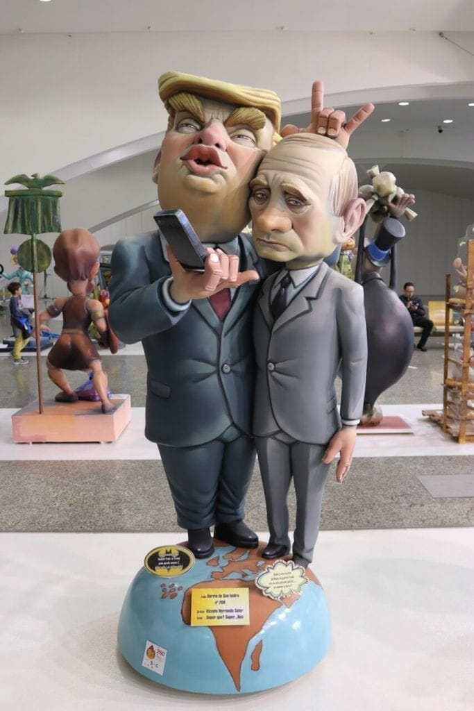 Trump y Putin were also present at the Exposición del Ninot at Museu de les Ciènces in 2018