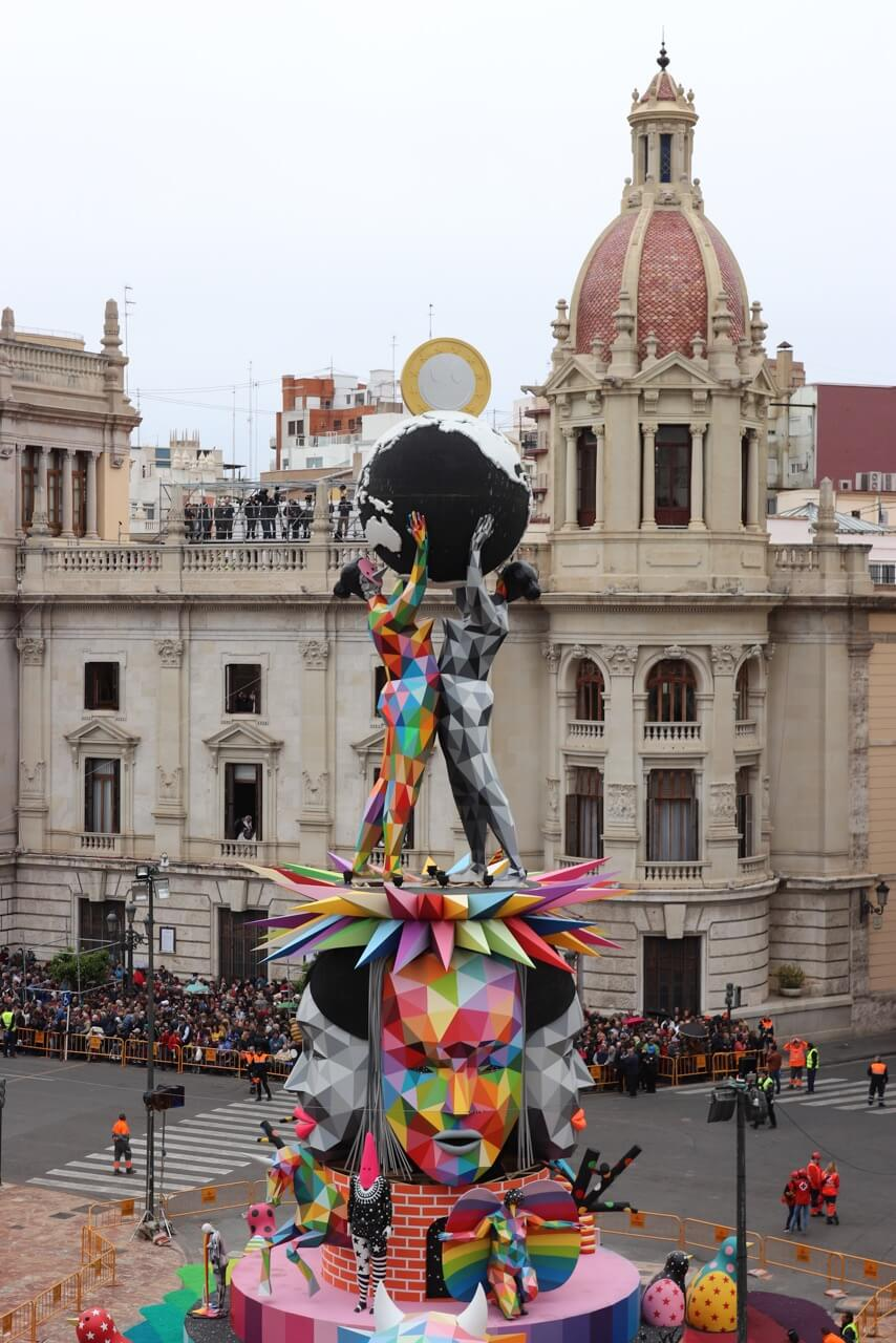 The falla municipal doesn't participate of any competition.