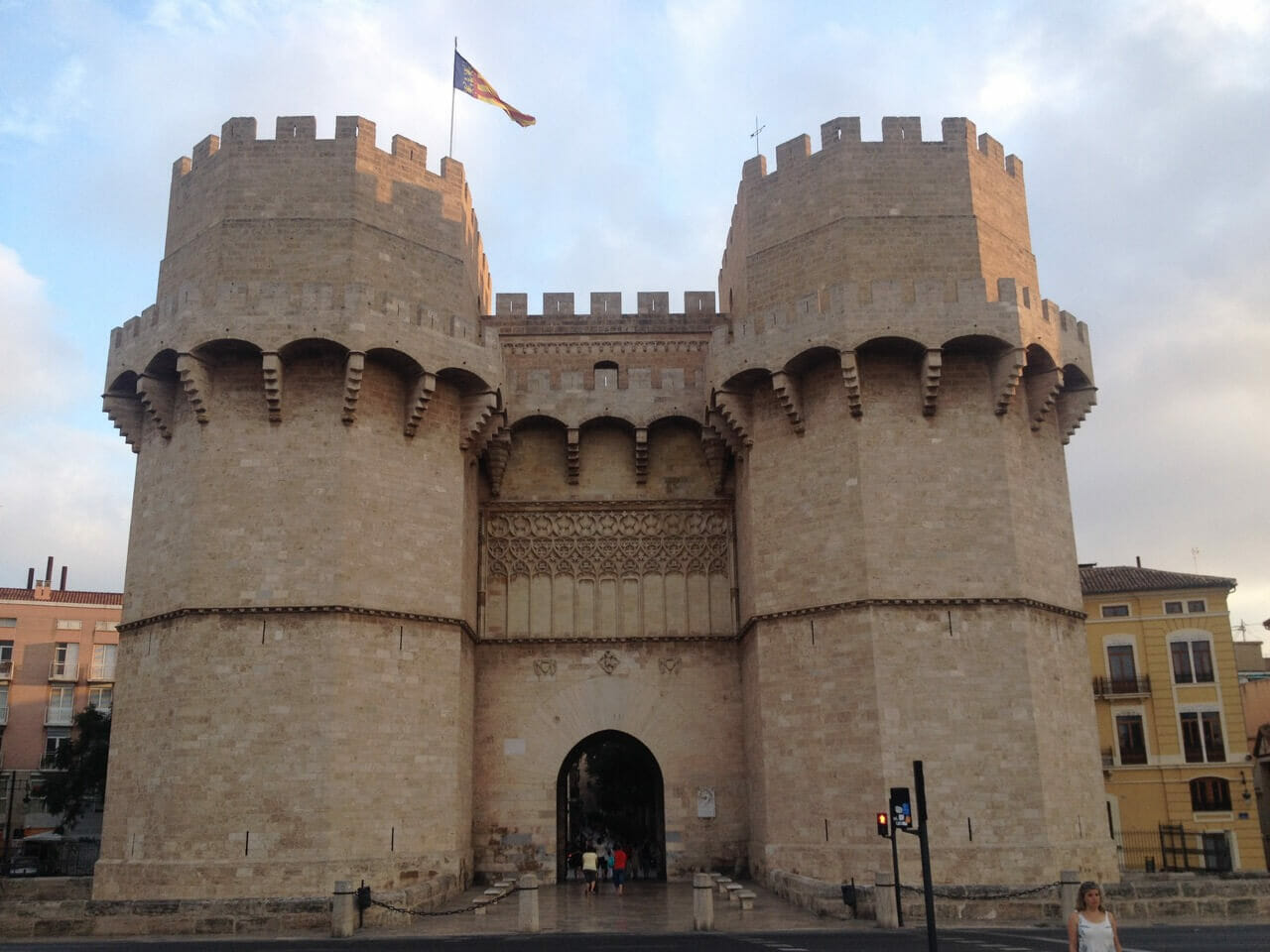 Torres de Serrano is one of the city gate towers remaining from the ancient walled city of Valencia.