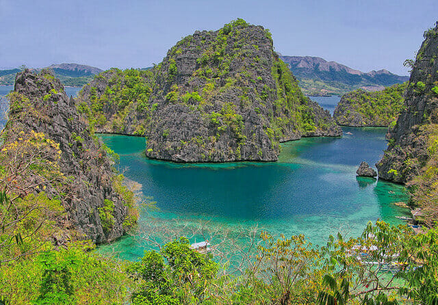 Coron, another enchanting place in Palawan and one of the best places for scuba diving in the Philippines.