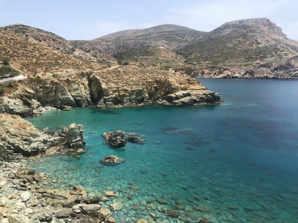 Many people go to Folegandros for hiking