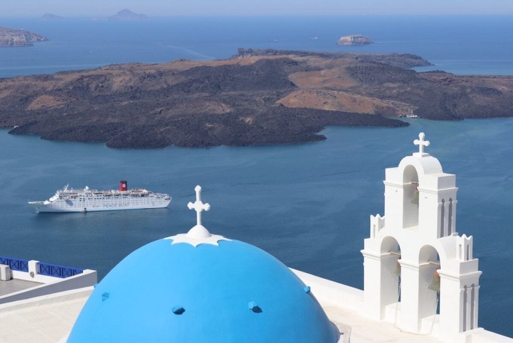 Firostefani is os of the most quiet areas to stay in Santorini