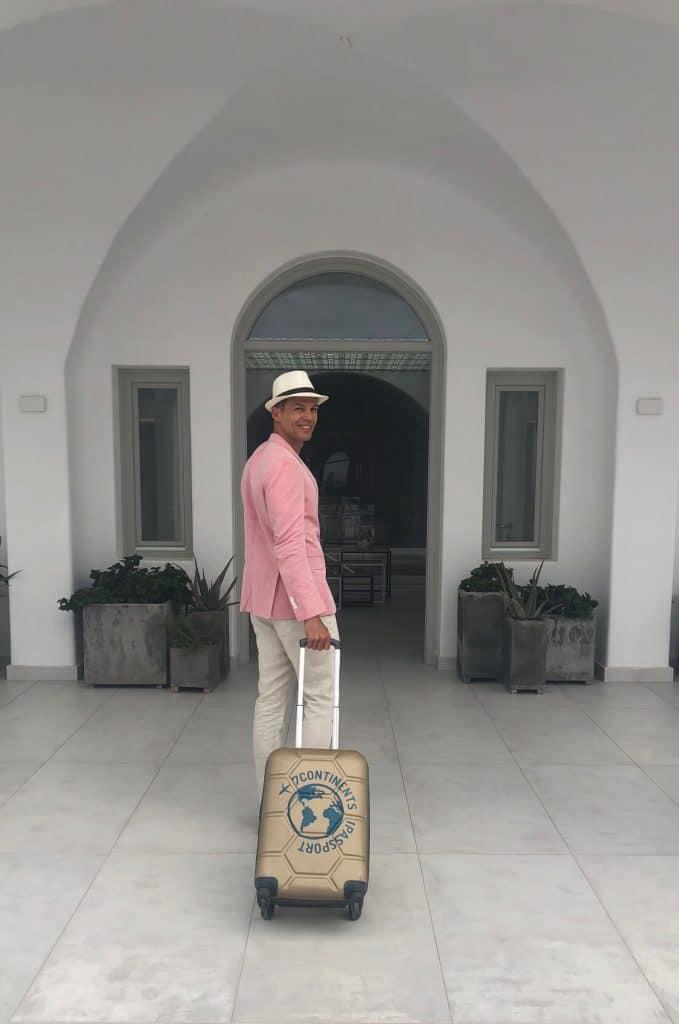 O Aqua Blue foi um dos meus favoritos hotéis em Santorini e eu adoraria ter ficado mais tempo.