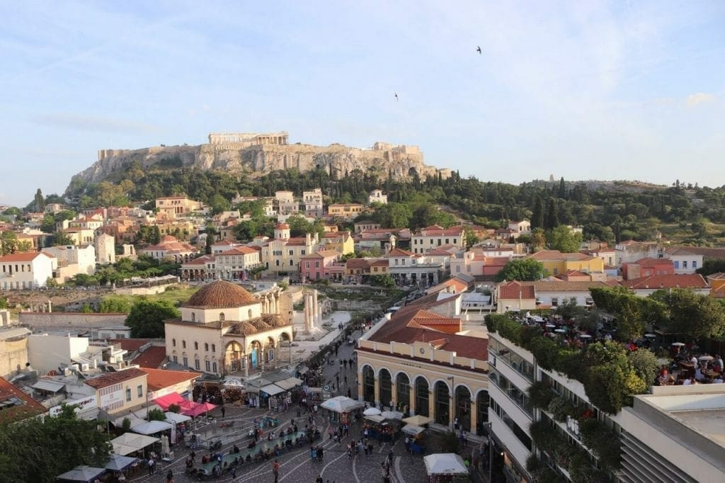 View from the A for Athens rooftop bar