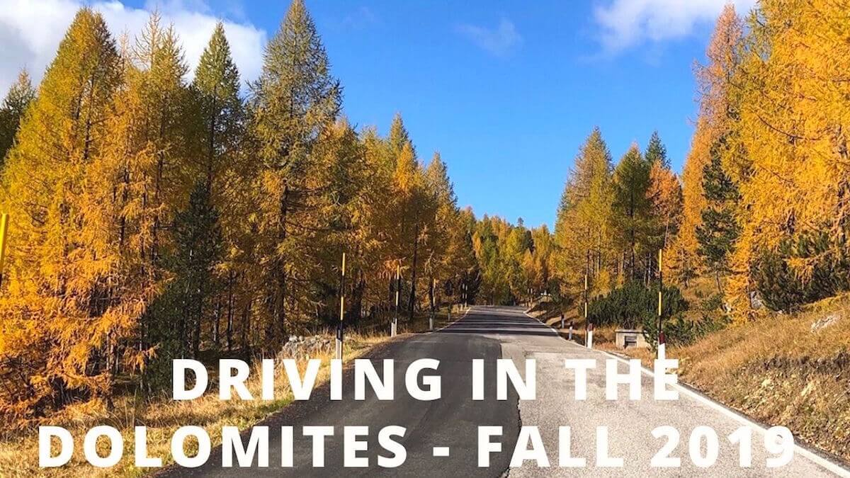 Driving in the Dolomites - Fall