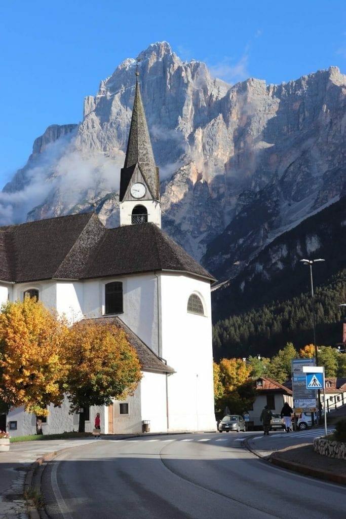 San Vito di Cadore, uno de los pueblos más hermosos en el leste de las Dolomitas.